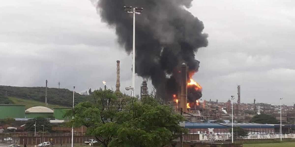Watch: Explosion rips through Engen Wentworth oil refinery